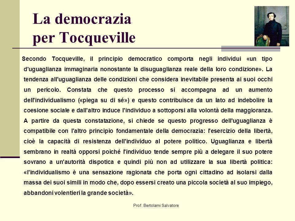 La democrazia per Tocqueville