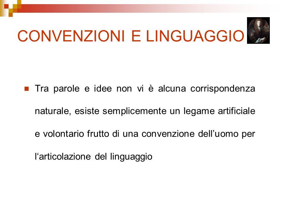 CONVENZIONI E LINGUAGGIO
