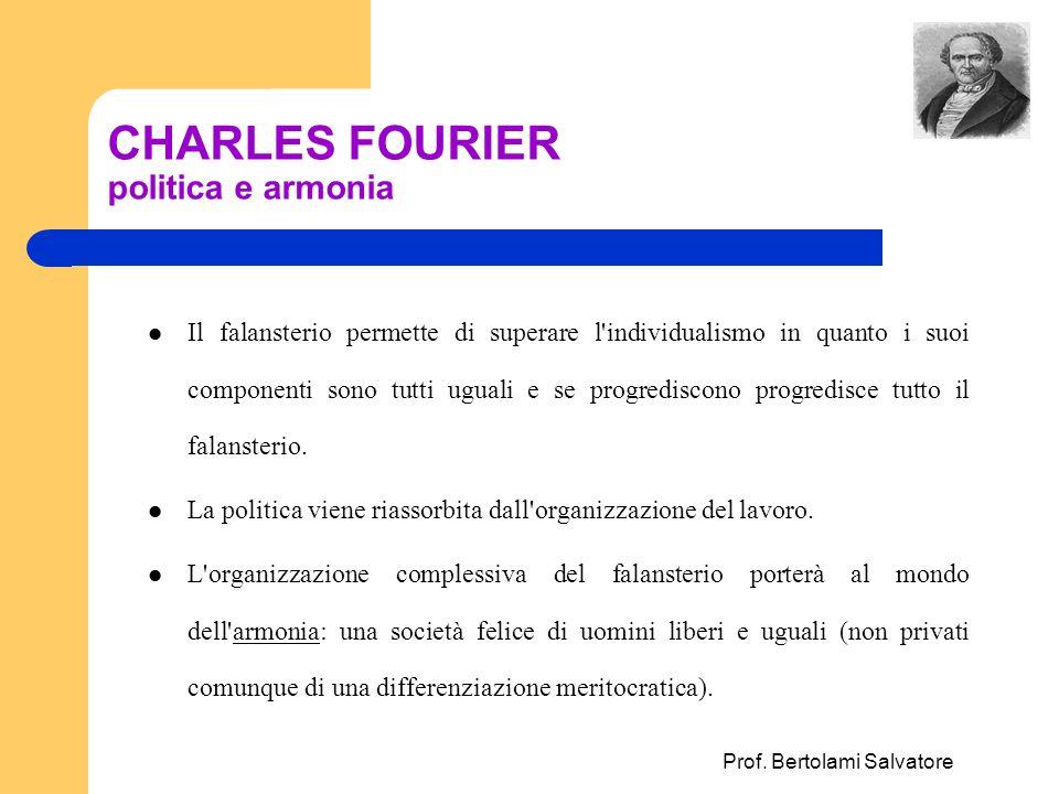 CHARLES FOURIER politica e armonia
