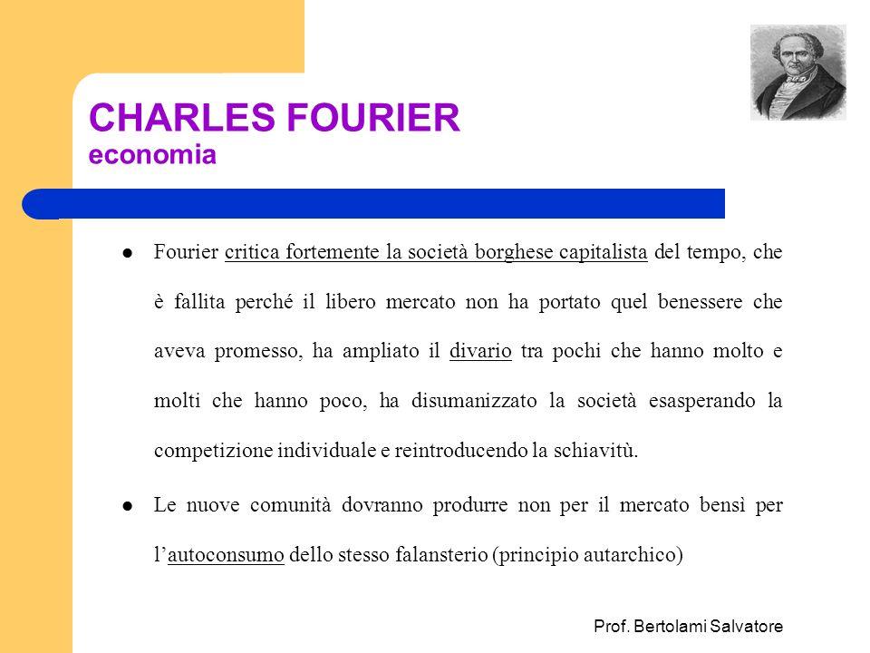 CHARLES FOURIER economia