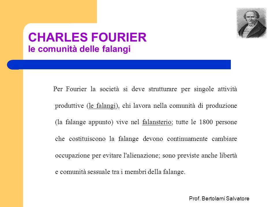 CHARLES FOURIER le comunità delle falangi