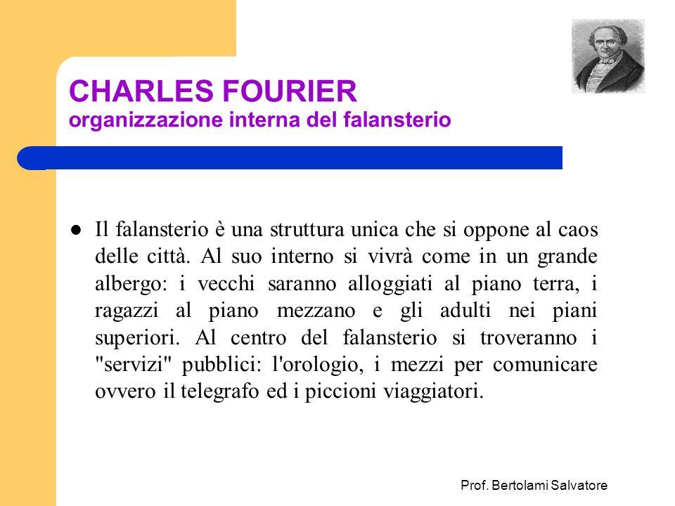 CHARLES FOURIER organizzazione interna del falansterio