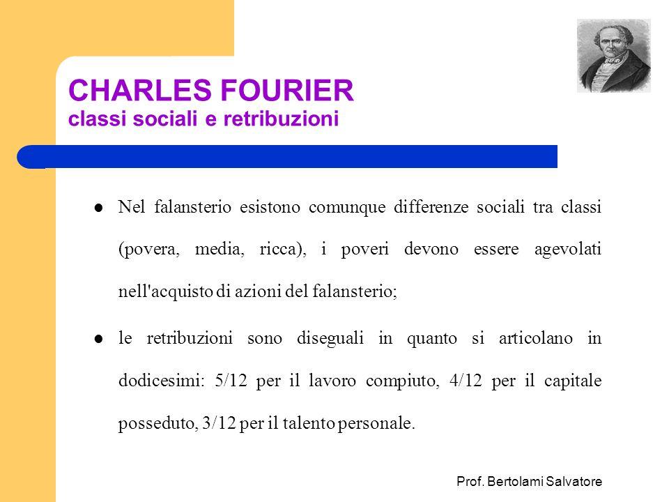 CHARLES FOURIER classi sociali e retribuzioni