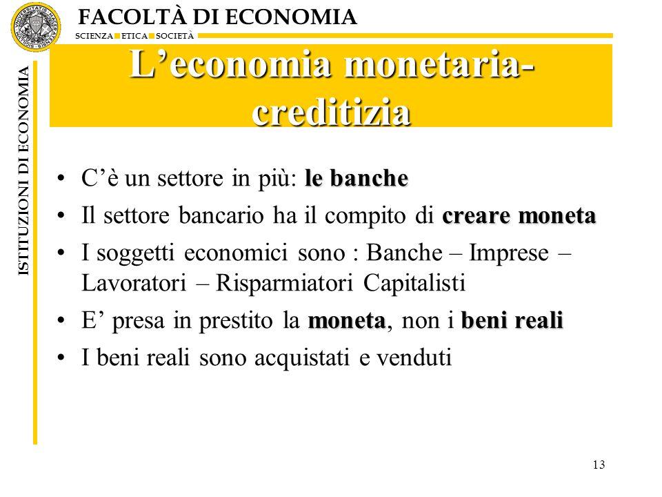 L'economia monetaria-creditizia