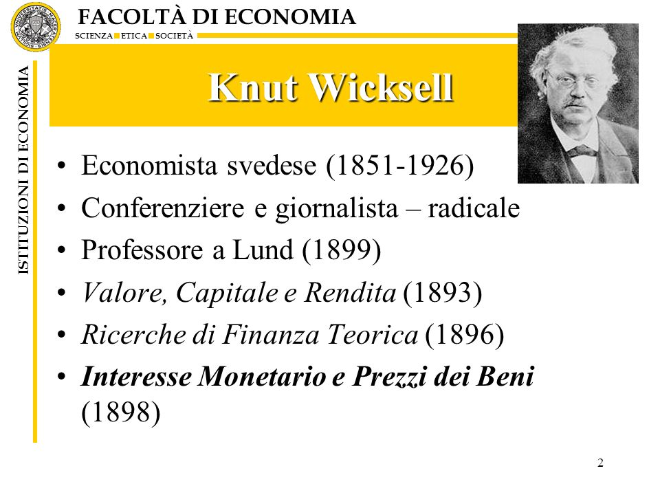 Knut Wicksell Economista svedese (1851-1926)