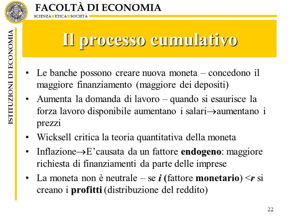 Il processo cumulativo