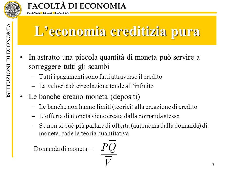 L'economia creditizia pura