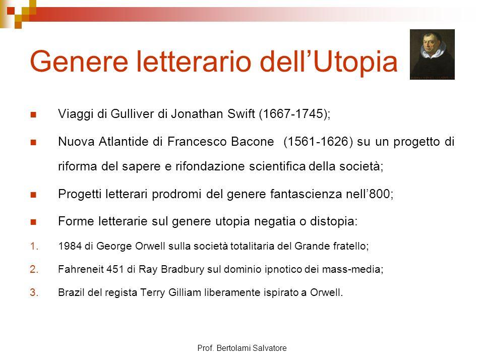 Genere letterario dell'Utopia