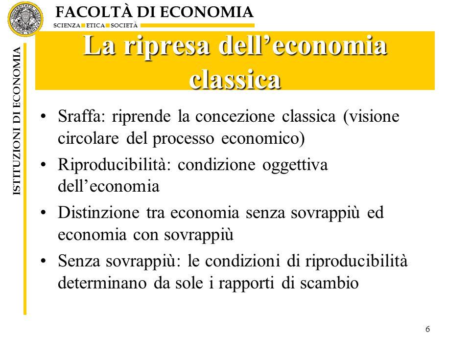 La ripresa dell'economia classica