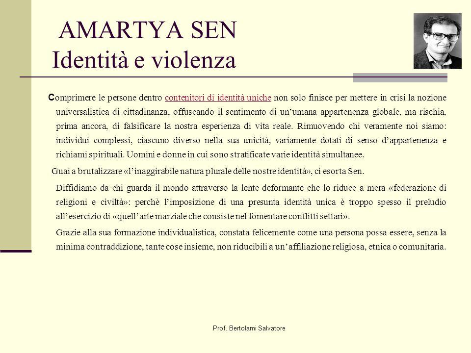 AMARTYA SEN Identità e violenza