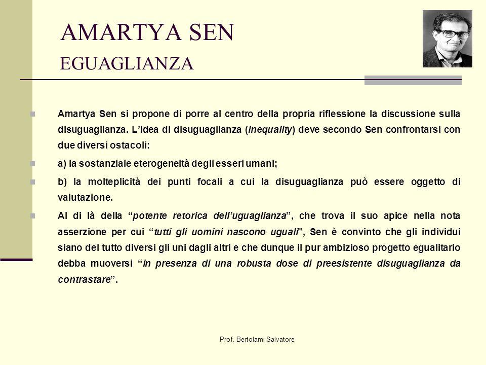 AMARTYA SEN EGUAGLIANZA