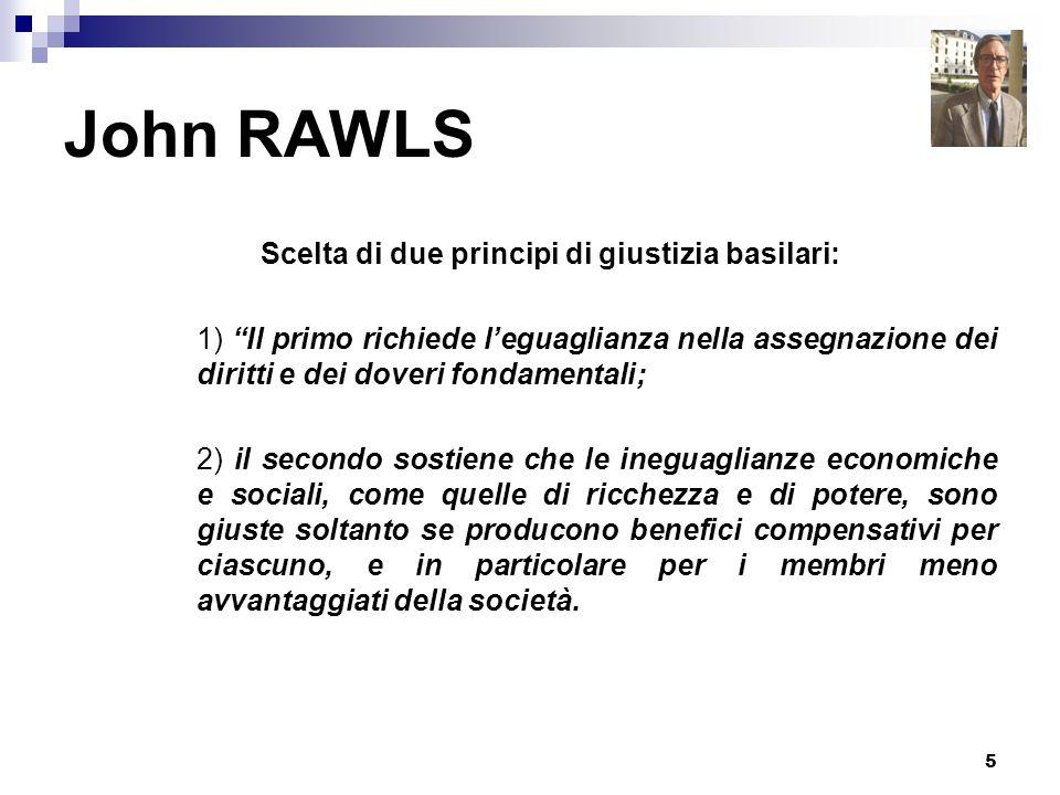 Scelta di due principi di giustizia basilari: