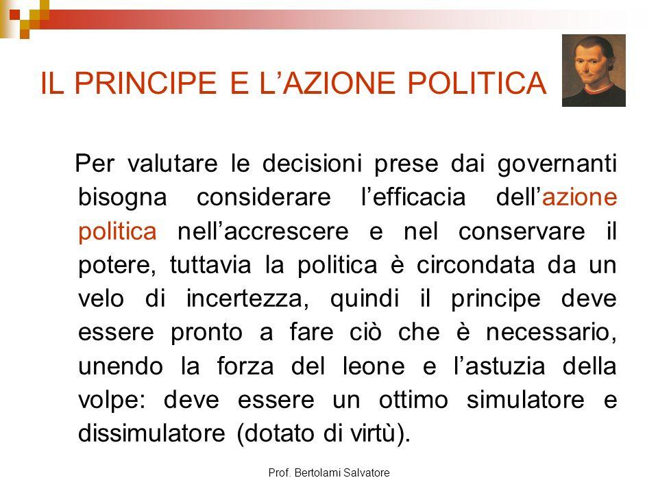 IL PRINCIPE E L'AZIONE POLITICA