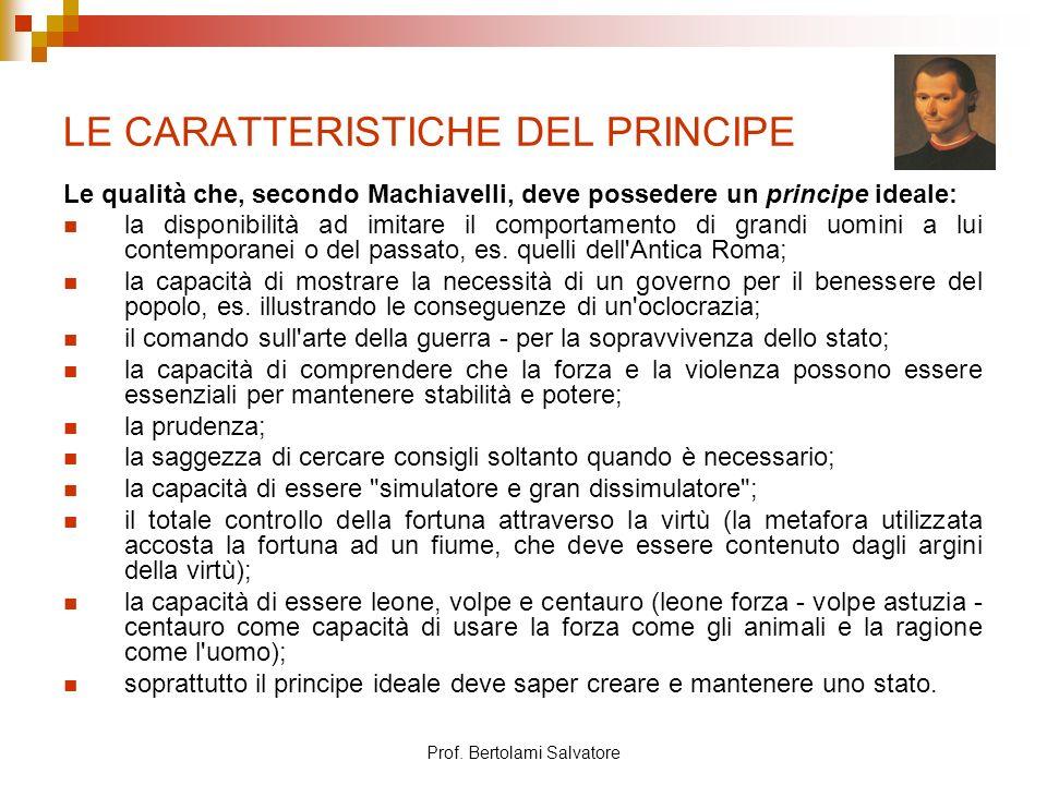 LE CARATTERISTICHE DEL PRINCIPE