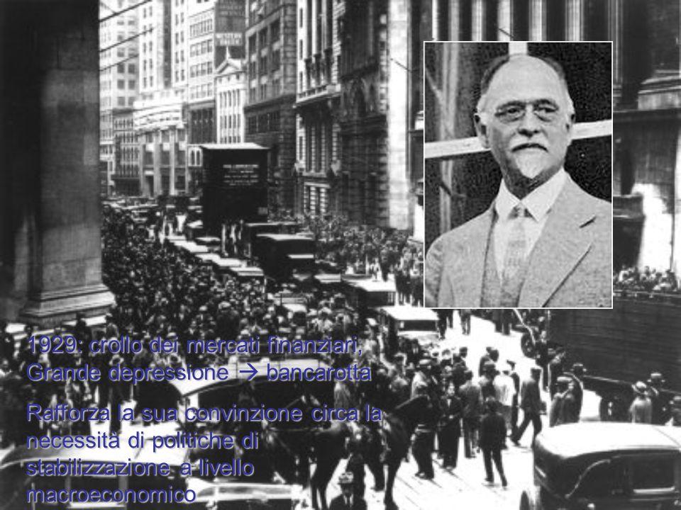 1929: crollo dei mercati finanziari, Grande depressione  bancarotta