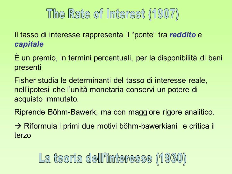 La teoria dell'interesse (1930)