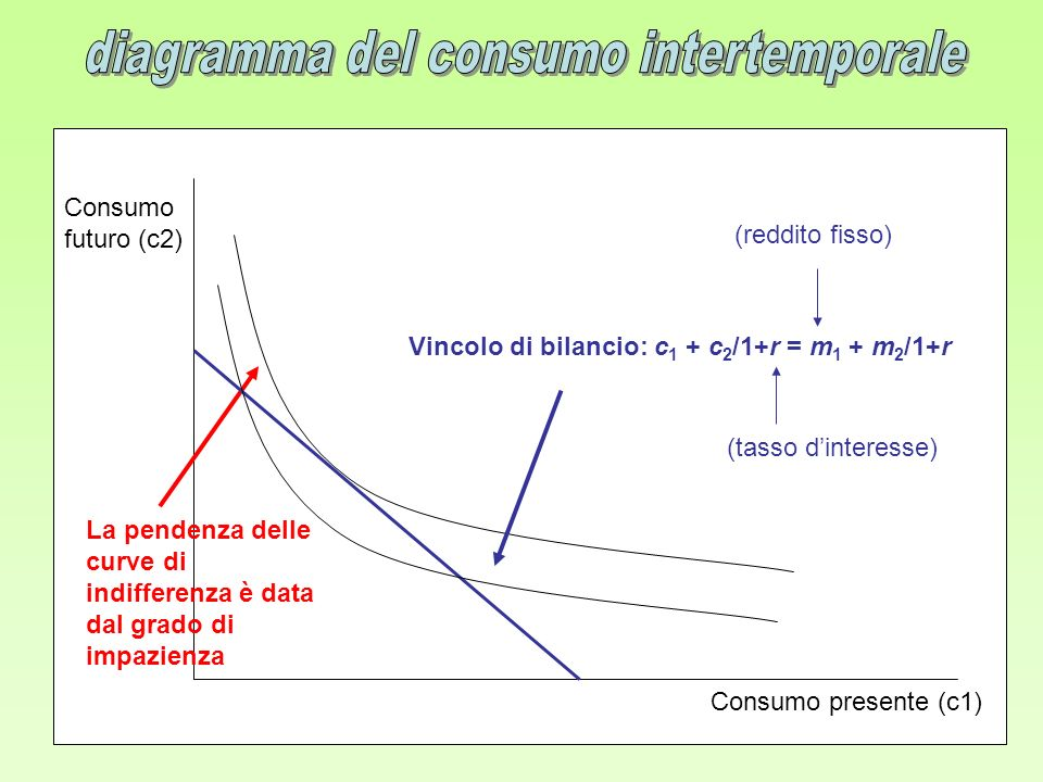 diagramma del consumo intertemporale