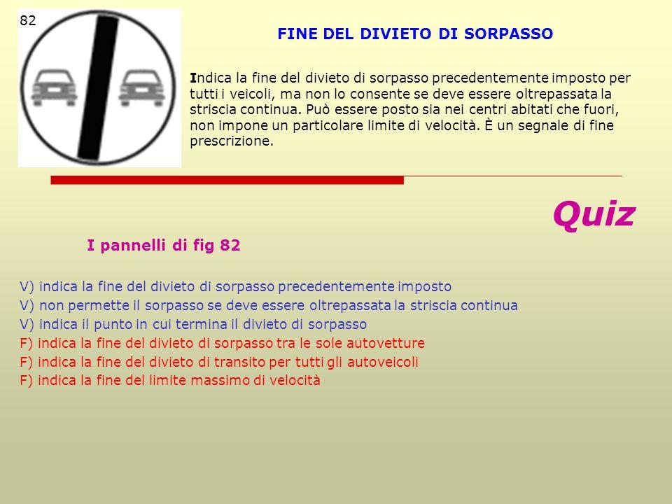 FINE DEL DIVIETO DI SORPASSO