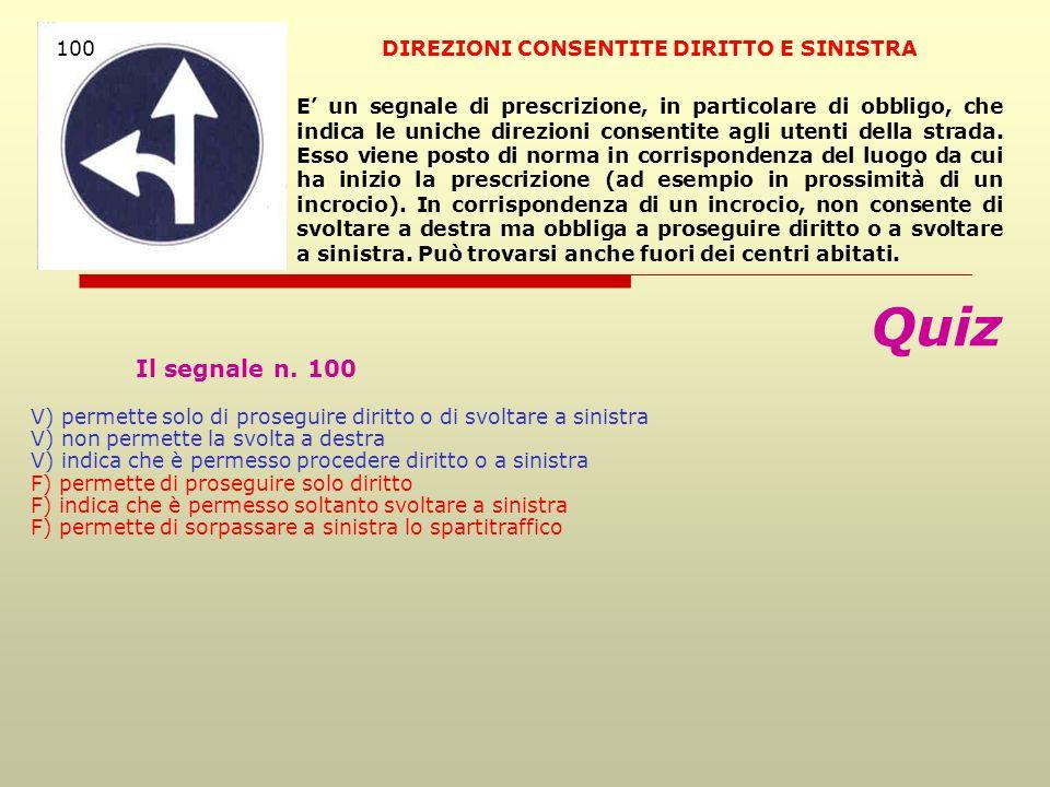 DIREZIONI CONSENTITE DIRITTO E SINISTRA
