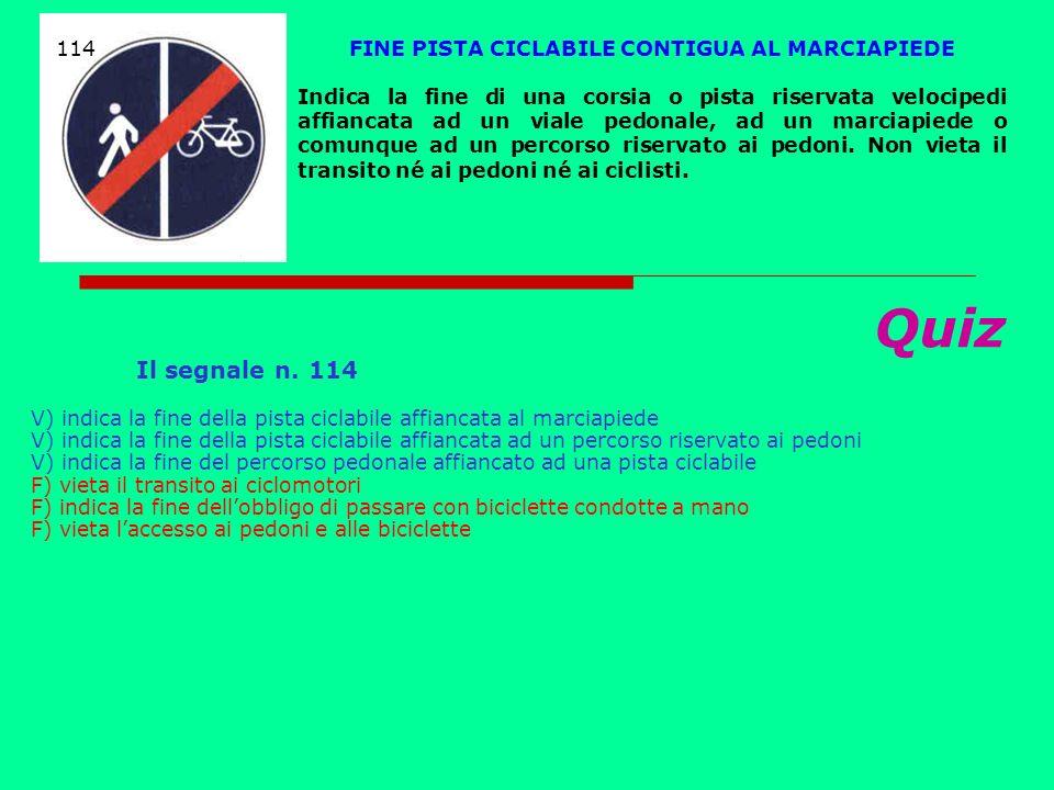 FINE PISTA CICLABILE CONTIGUA AL MARCIAPIEDE