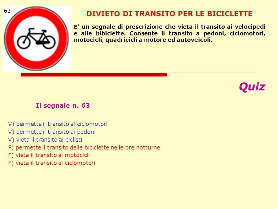 DIVIETO DI TRANSITO PER LE BICICLETTE