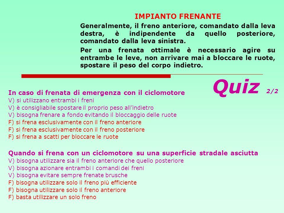 Quiz 2/2 IMPIANTO FRENANTE