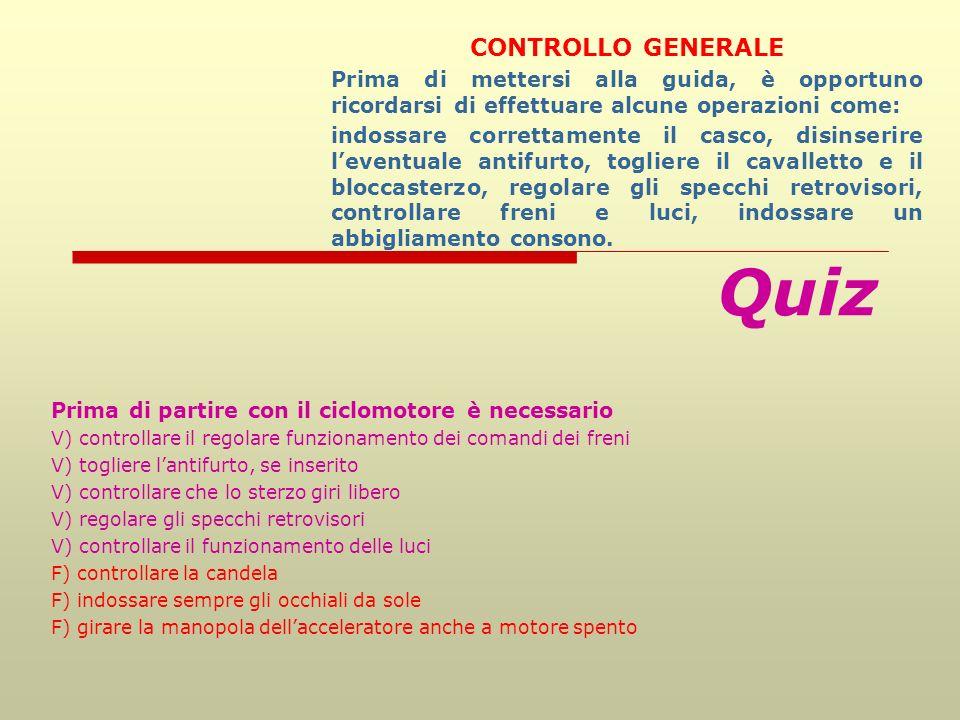 Quiz CONTROLLO GENERALE