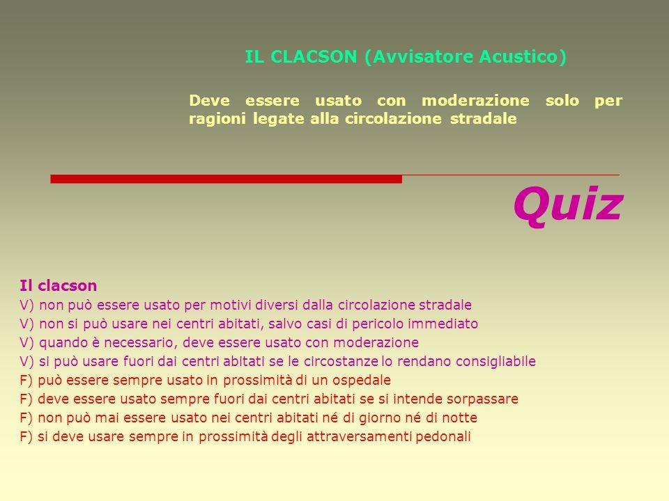 IL CLACSON (Avvisatore Acustico)