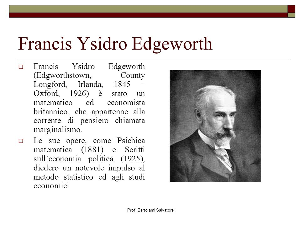 Francis Ysidro Edgeworth