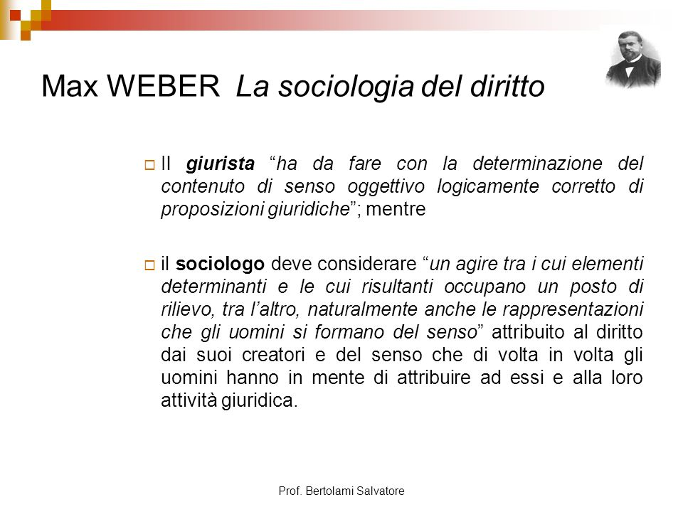 Max WEBER La sociologia del diritto