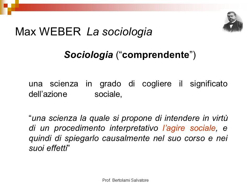Max WEBER La sociologia