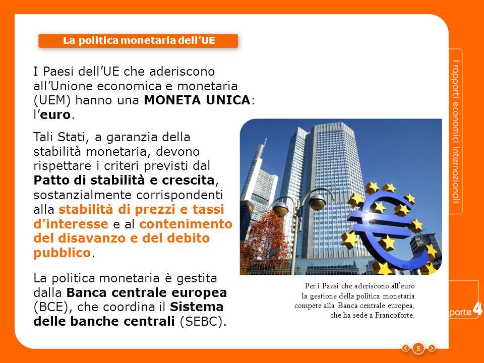 La politica monetaria dell'UE Criteri di stabilità monetaria