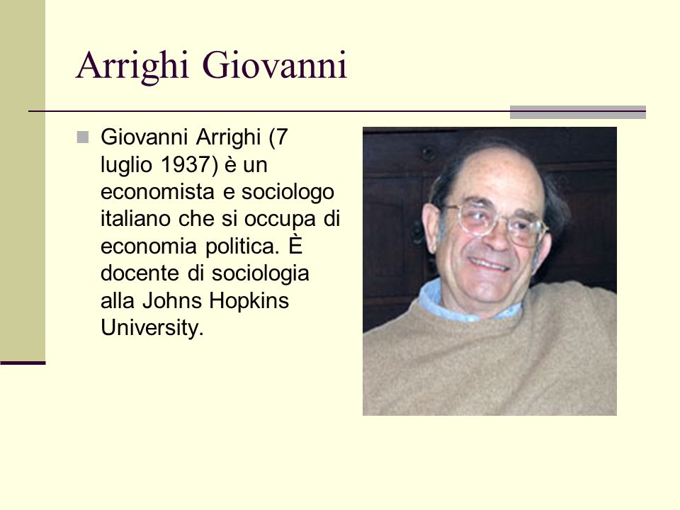 Arrighi Giovanni