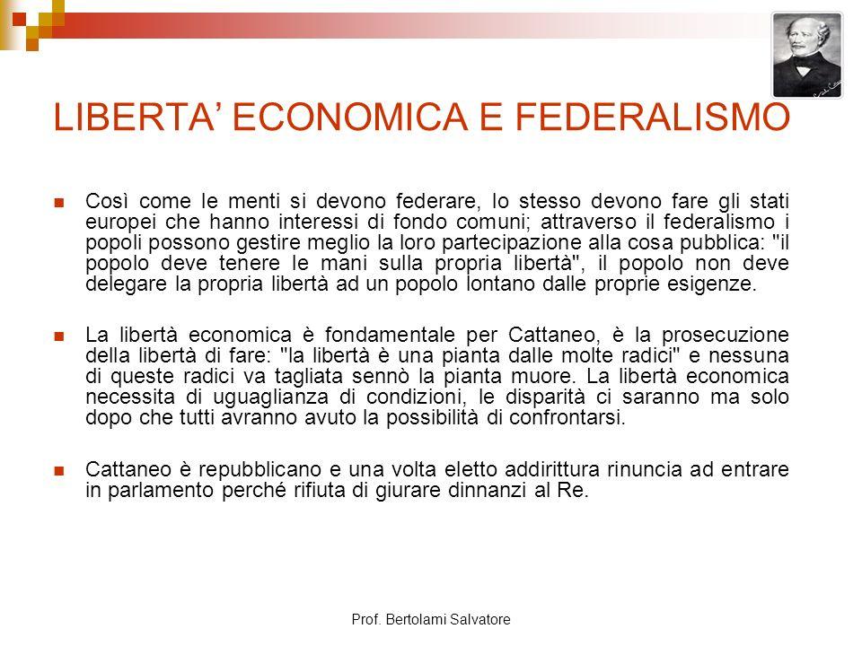 LIBERTA' ECONOMICA E FEDERALISMO