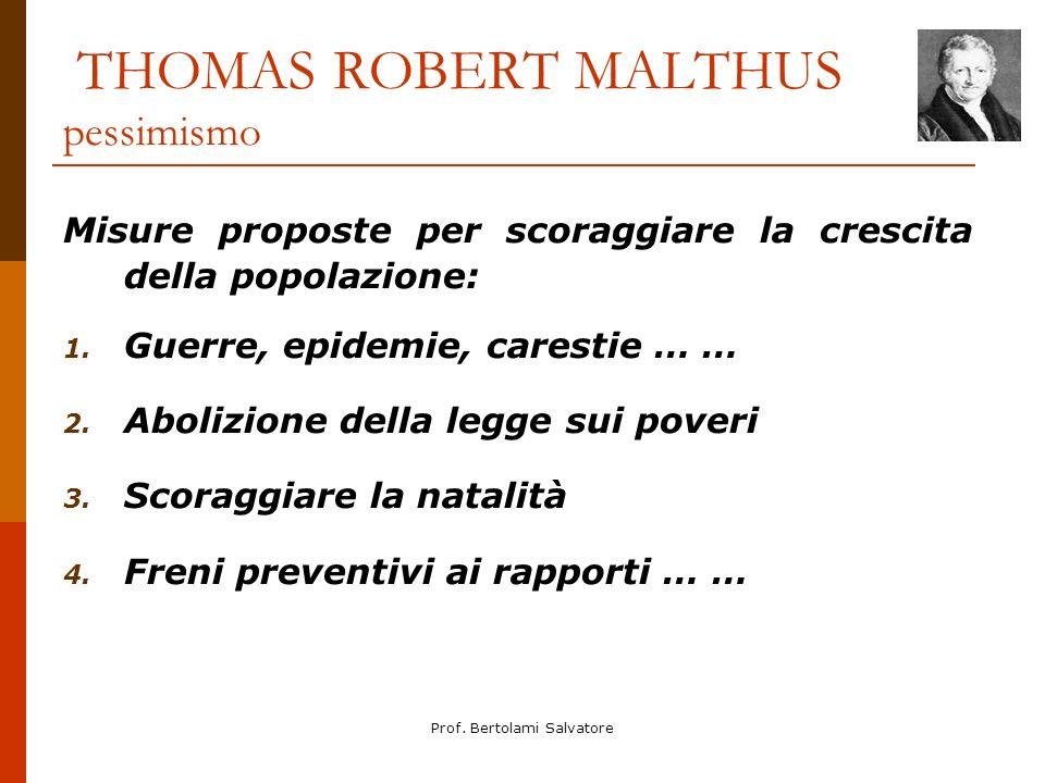 THOMAS ROBERT MALTHUS pessimismo