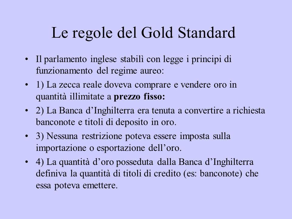 Le regole del Gold Standard