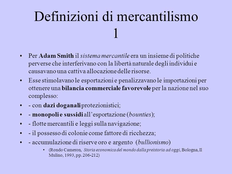 Definizioni di mercantilismo 1
