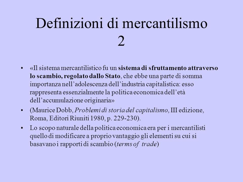 Definizioni di mercantilismo 2