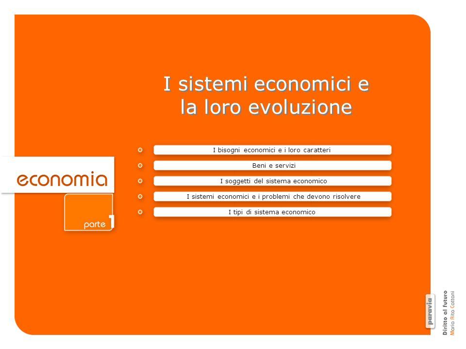 I sistemi economici e la loro evoluzione