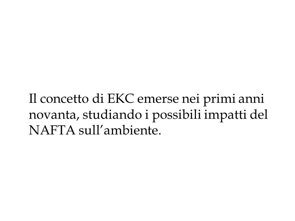 Il concetto di EKC emerse nei primi anni novanta, studiando i possibili impatti del NAFTA sull'ambiente.