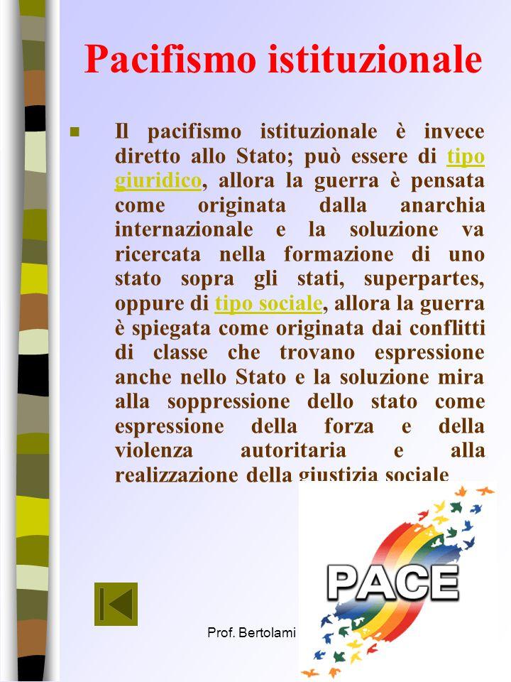 Pacifismo istituzionale