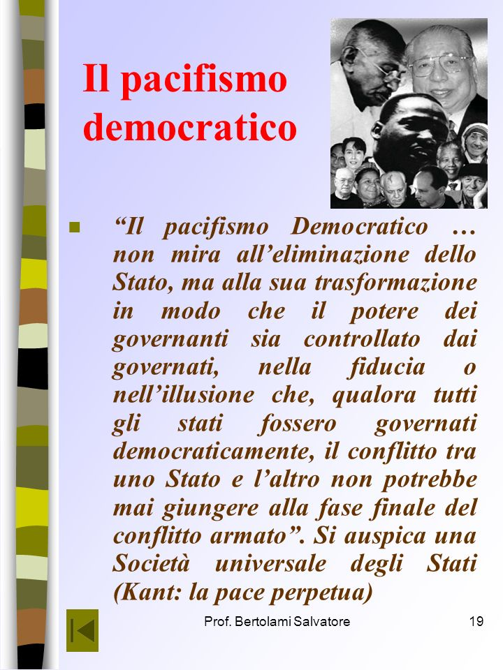 Il pacifismo democratico