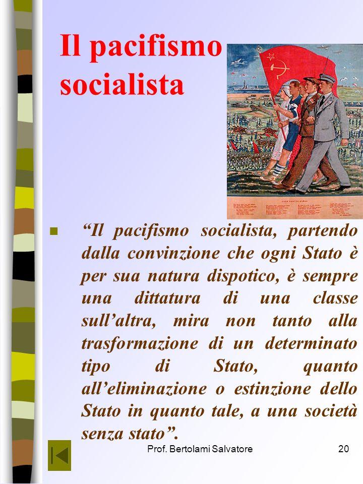 Il pacifismo socialista
