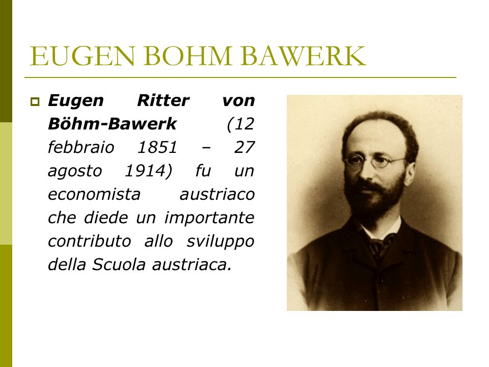 EUGEN BOHM BAWERK