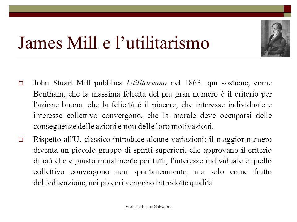 James Mill e l'utilitarismo
