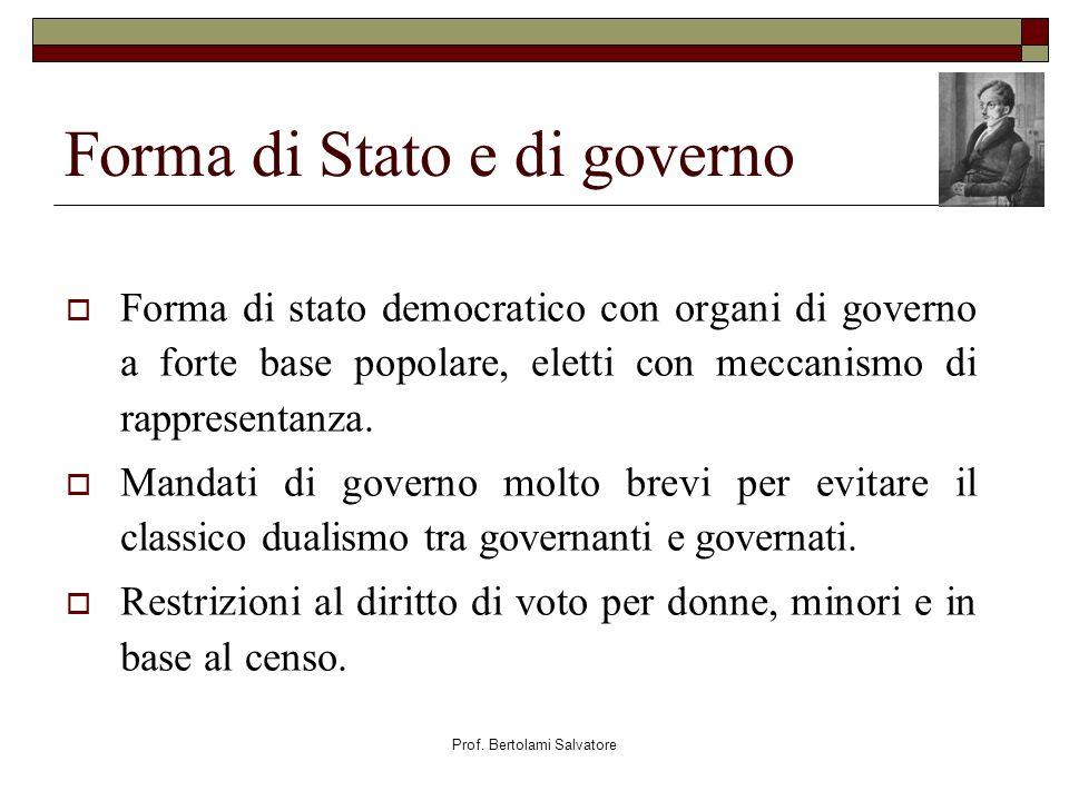 Forma di Stato e di governo