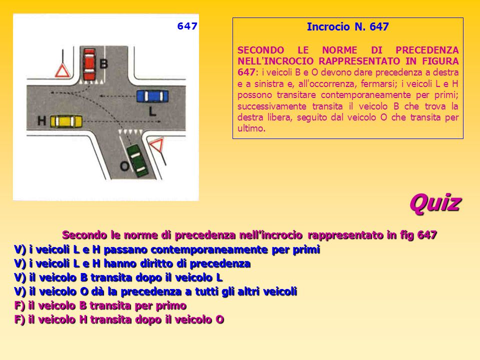 647 Incrocio N. 647.