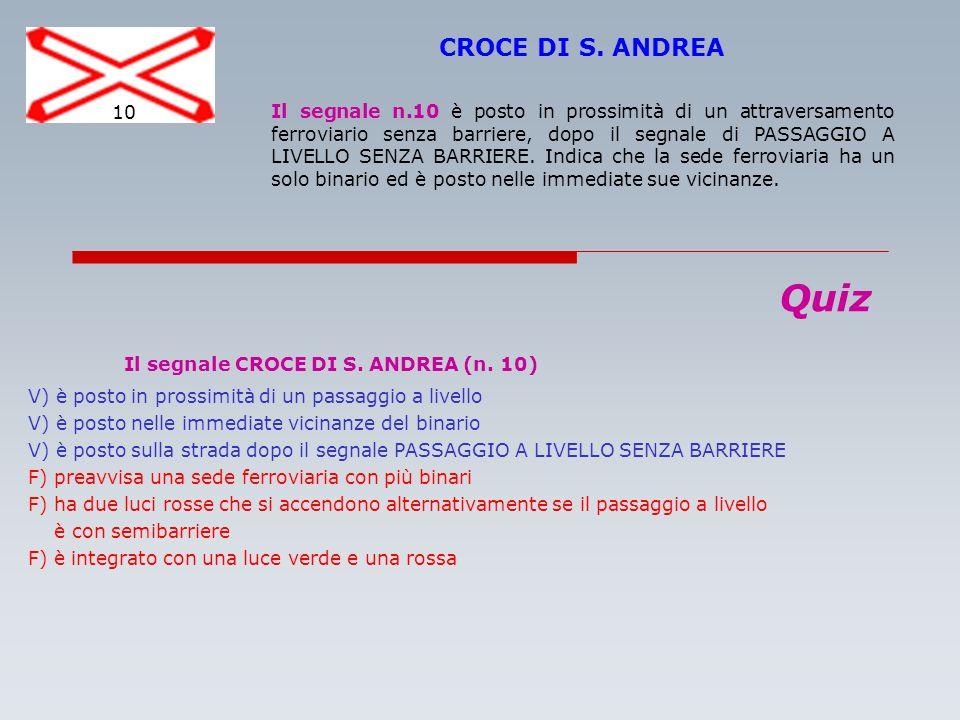 Il segnale CROCE DI S. ANDREA (n. 10)