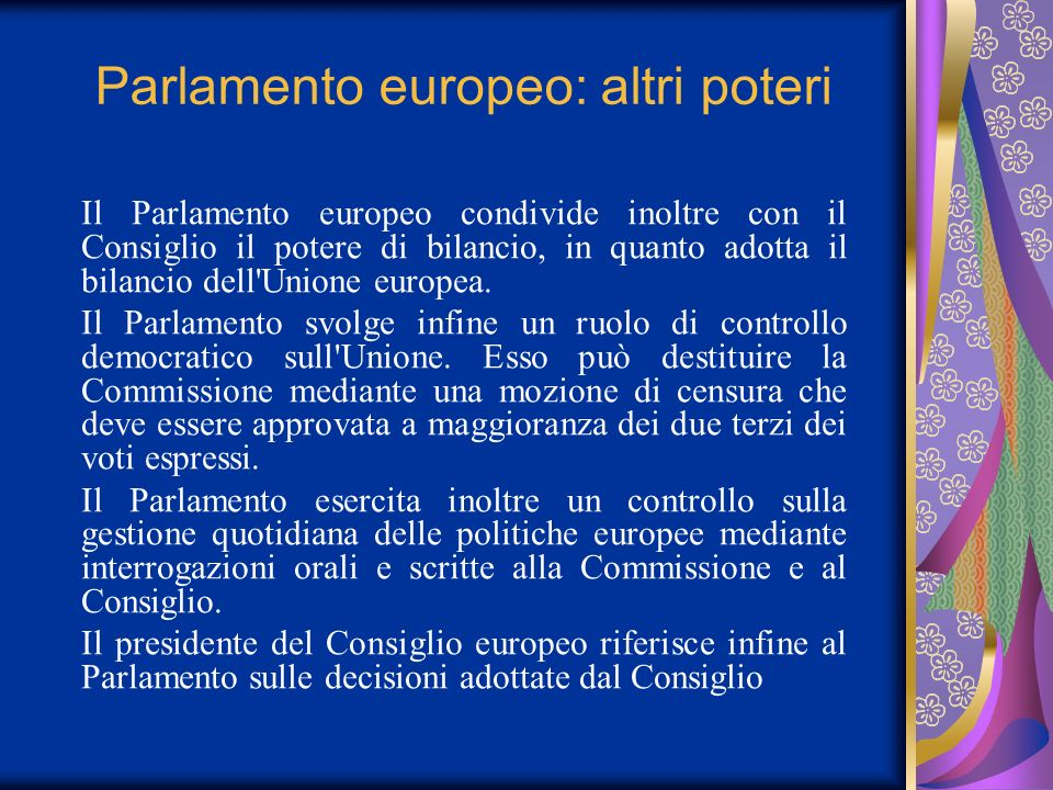 Parlamento europeo: altri poteri
