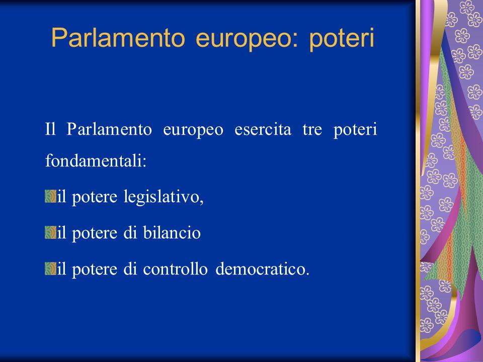 Parlamento europeo: poteri